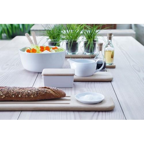 Салатник Dine с деревянными приборами, белый