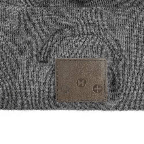 Шапка с Bluetooth наушниками Real Talk Headset, темно-серый меланж