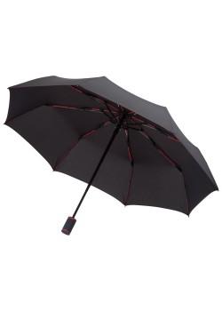 Зонт складной AOC Mini с цветными спицами, красный