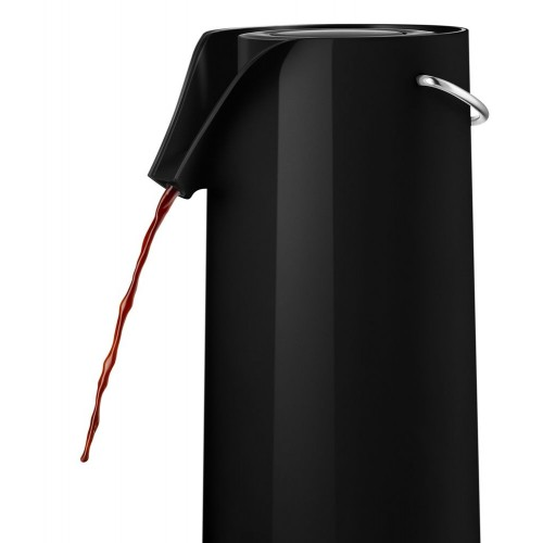 Термос с механической помпой Pump, черный