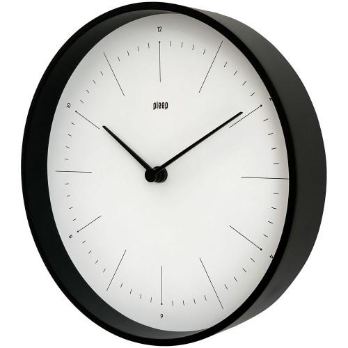 Часы настенные Lacky, белые с черным