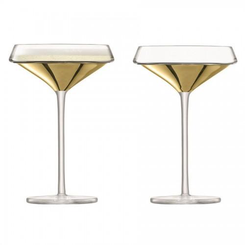 Набор бокалов-креманок для шампанского Space, золотистый
