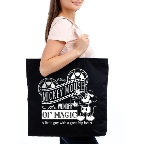 Холщовая сумка «Микки Маус. Wonder Of Magic», черная