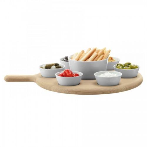 Сервировочный набор на подставке Paddle, белый