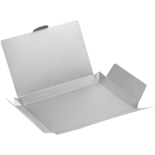 Коробка самосборная Flacky Slim, серебристая