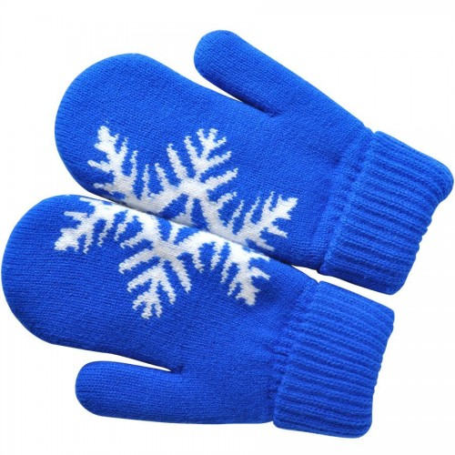 Варежки 'Сложи снежинку!' с теплой подкладкой, синий