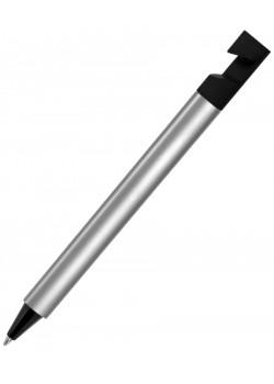 Ручка шариковая N5 с подставкой для смартфона, серебристый