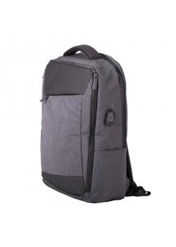 Рюкзак LEIF, темно-серый, черный