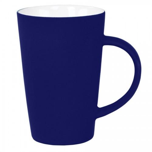Кружка 'Tioman' с прорезиненным покрытием, темно-синий