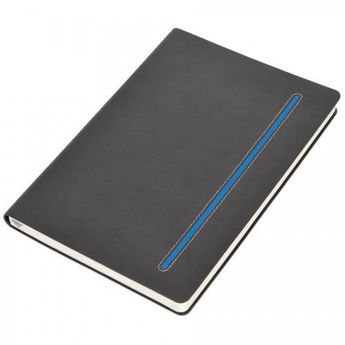 Бизнес-блокнот А5 'Elegance', мягкая обложка, в клетку, синий