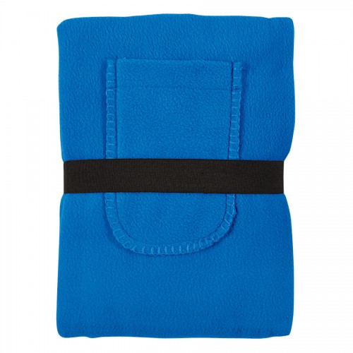 Плед 'Уютный' с карманами для ног, синий