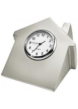 Часы 'Домик', серебристый