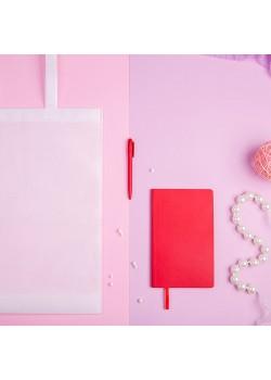 Набор подарочный CONCEPT L: бизнес-блокнот, ручка, сумка, красный