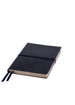 Ежедневник недатированный Save , A5, темно-синий,  рециклированная кожа, кремовый блок, подарочная