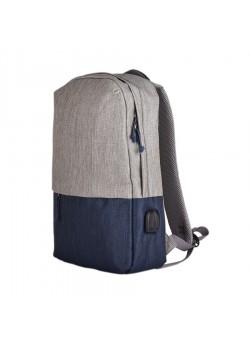 Рюкзак BEAM, серый, темно-синий