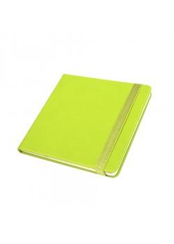 Ежедневник недатированный Quadro, A5-, зеленое яблоко, кремовый блок