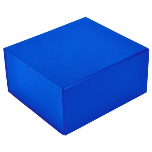 Упаковка подарочная, коробка складная, синий