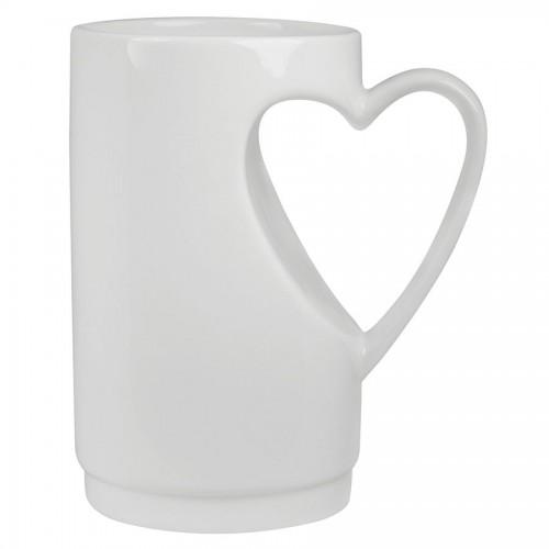 Кружка 'Сердце' в подарочной упаковке, белый