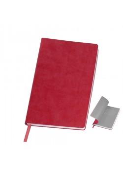 Бизнес-блокнот 'Funky' A5, красный, серый форзац, мягкая обложка, в линейку