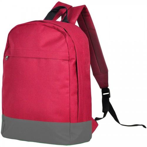 Рюкзак URBAN, красный, серый