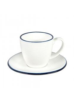 Чайная пара SEAWAVE  в подарочной упаковке, белый, синий