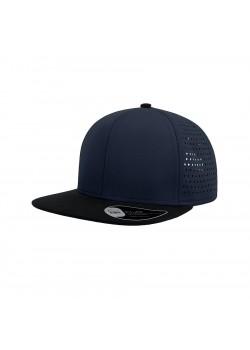 Бейсболка BANK, 6 клиньев, пластиковая застежка, темно-синий, черный
