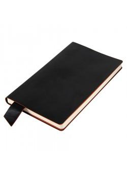 Бизнес-блокнот 'Trendi', 130*210 мм, черно-оранжевый, мягкая обложка, в линейку, черный, оранжевый