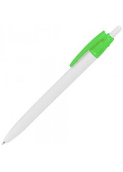 Ручка шариковая N2, белый, зеленый