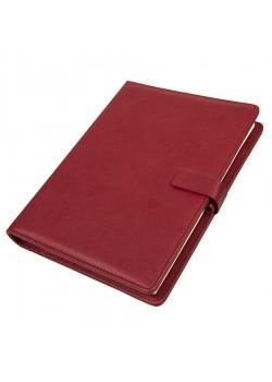 Ежедневник недатированный Coach, формат B5 в подарочной коробке, бордовый