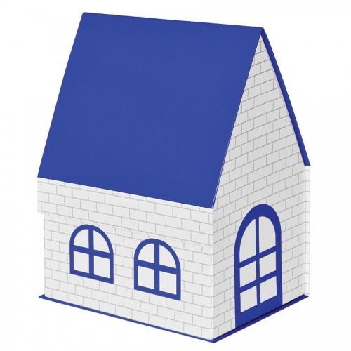 Упаковка подарочная, коробка 'ДОМ' складная, синий