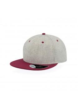 Бейсболка FADER, 6 клиньев, застежка ПВХ, серый, красный
