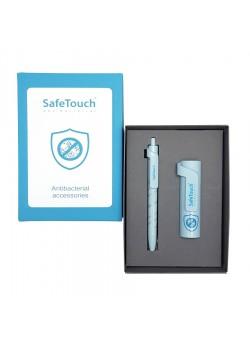 Набор FORTE SAFE TOUCH: аккумулятор, 3000мАh и ручка,серый/голубой, разные цвета