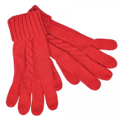 Перчатки сенсорные 'Irish', красный_М, акрил/хлопок