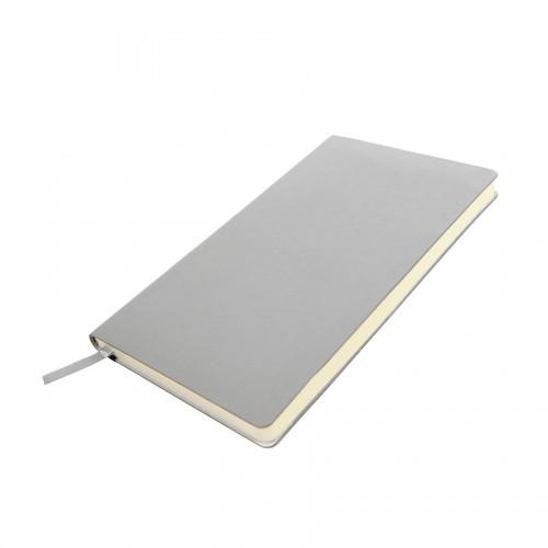 Бизнес-блокнот SMARTI, A5, темно-серый, мягкая обложка, в клетку