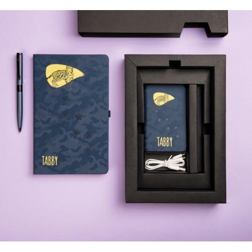 Набор PowerBox: универсальное зарядное устройство (4000mAh), блокнот и ручка в подарочной коробке, разные цвета