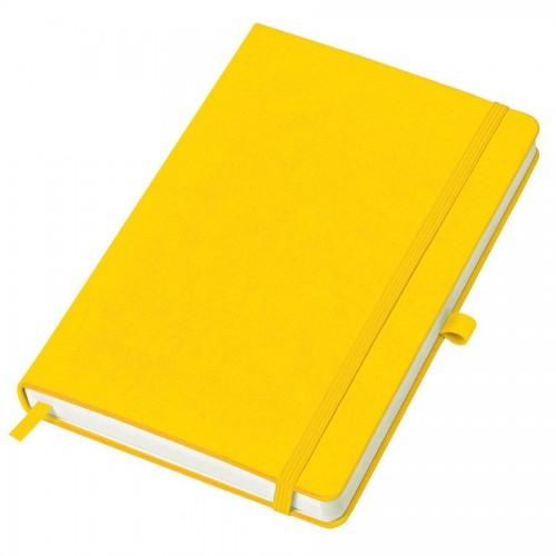 Бизнес-блокнот A5 'Justy' в линейку, желтый