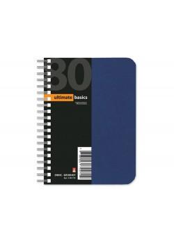 Бизнес - блокнот А6 (99 х 139 мм.) Офис-Лайн 80 л., синий