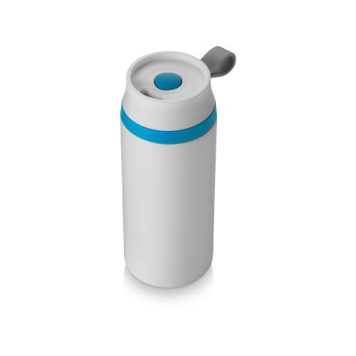 Термостакан герметичный Flow, белый/синий