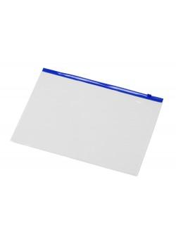 Папка на молнии формата А4, цвет - молнии синий