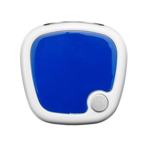 Трекинговый шагомер с экраном LCD Trackfast, белый/синий