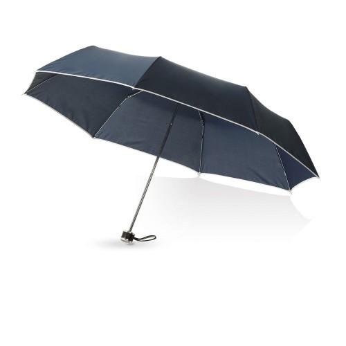 Зонт складной Линц, механический 21, темно-синий