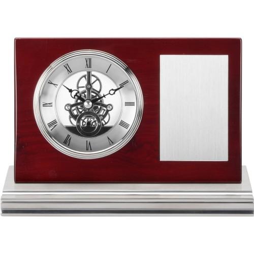 Часы настольные Webster, коричневый/серебристый