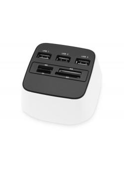USB Hub на 3 порта со встроенным картридером  для карт SD, TF, MS и M2