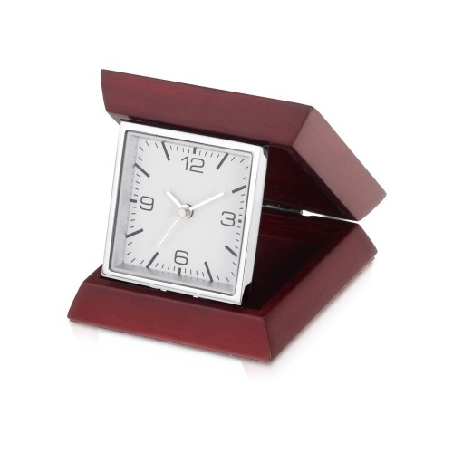 Часы настольные Либерал, темно-коричневый/серебристый