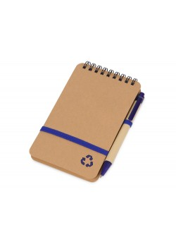 Набор канцелярский с блокнотом и ручкой Masai, синий