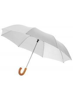 Зонт складной Jehan, полуавтомат 23, серебристый (Р)
