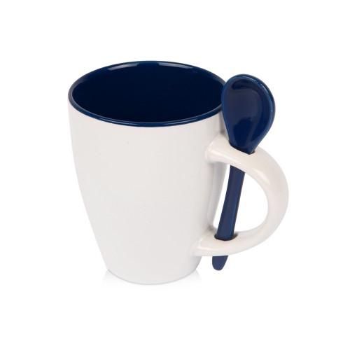 Кружка Авеленго с ложкой, темно-синий