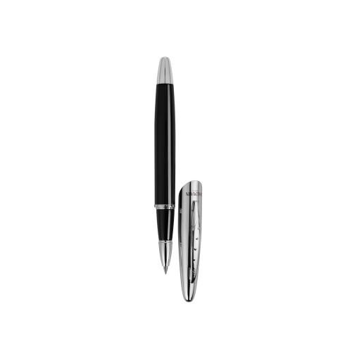 Набор ручек ''Morzine'': шариковая ручка и роллер, черные чернила