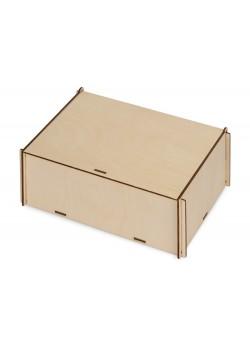 Деревянная коробка для гирлянды с наполнителем-стружкой Ларь