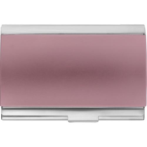 Визитница Смит, розовый/серебристый